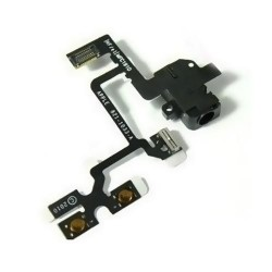 Jack Audio e Flex tasti laterali Nero/Bianco per iPhone 4