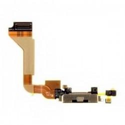 Connettore Flex Flat Dock Carica Ricarica e Microfono Nero/Bianco iPhone 4