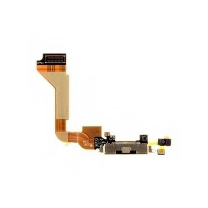 839965c83a8 Connettore Flex Flat Dock Carica Ricarica e Microfono Nero/Bianco iPhone 4  ...