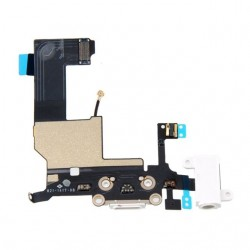 Connettore dock + Jack audio + microfono iPhone 5 Bianco/Nero