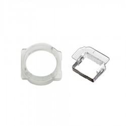 Supporto plastica trasparente fotocamera frontale + sensore iPhone 5
