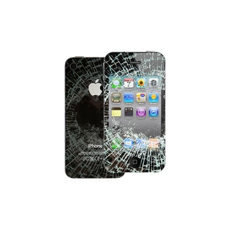Riparazione Fronte/Retro Vetro Touch Display LCD + cover posteriore iPhone 4