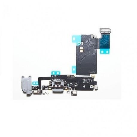 Connettore dock + Jack audio + microfono + antenna iPhone 6S Plus Bianco/Nero