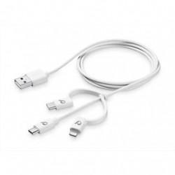 Cavo Cellularline Micro USB con adattatore Type-C e Lightning